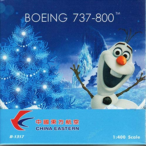 Phoenix Model PHX04323 1:400 China Eastern Boeing 737-800(W) Reg #B-1317 'Frozen' (pre-Painted/pre-Built)