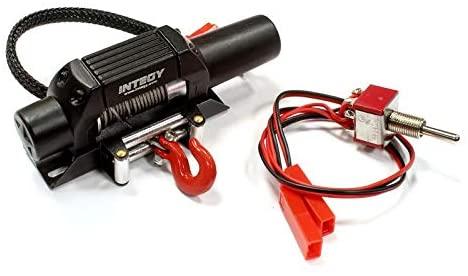 Integy RC Model Hop-ups C25452BLACK Billet Machined T5 Realistic High Torque Mega Winch for 1/10 Scale Rock Crawler