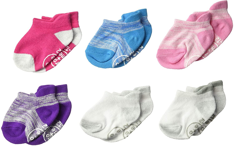 Ro + Me by Robeez Baby Girls 6-Pack Socks