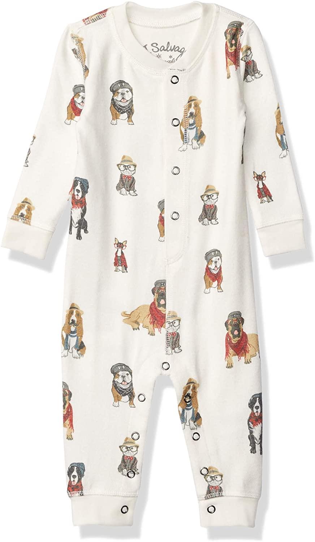 PJ Salvage Kids Baby Kids' Sleepwear Long Sleeve Peachy Romper