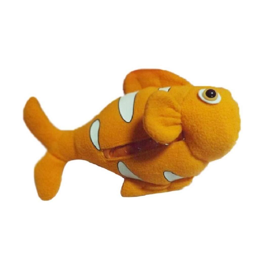 Hooyi Fish Unisex Baby Feeding Bottle Cover Milk Pouch Keep Warm Holder Plush Toy (Orange)