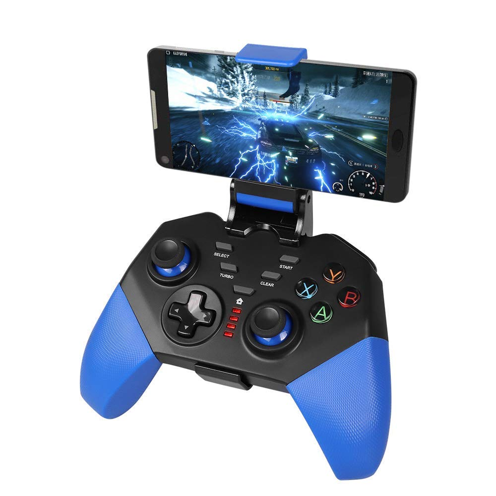 PowerLead Mobile Game Controller, PG8721 Wireless Turbo Combo Key Mapping Mobile Gamepad Compatible with iOS Android iPad Tablet