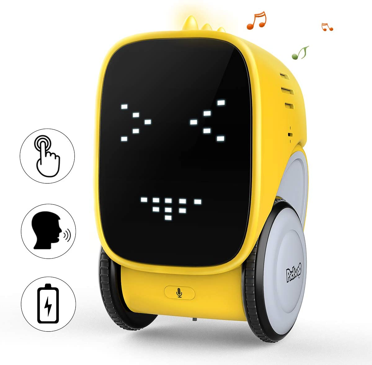 Pickwoo Smart Robot, R16 Robot Toys Talking Robot Kids Control Robot, STEM Educational Toys for Toddlers, Dancing, Talking Singing, Recorder, Touch, and Voice Control.
