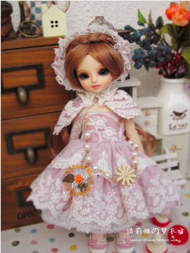 Sakura Snow / Outfit Dress Suit 1/6 26CM YOSD BJD Dollfie / Doll Dress / 6 PCS / Pink