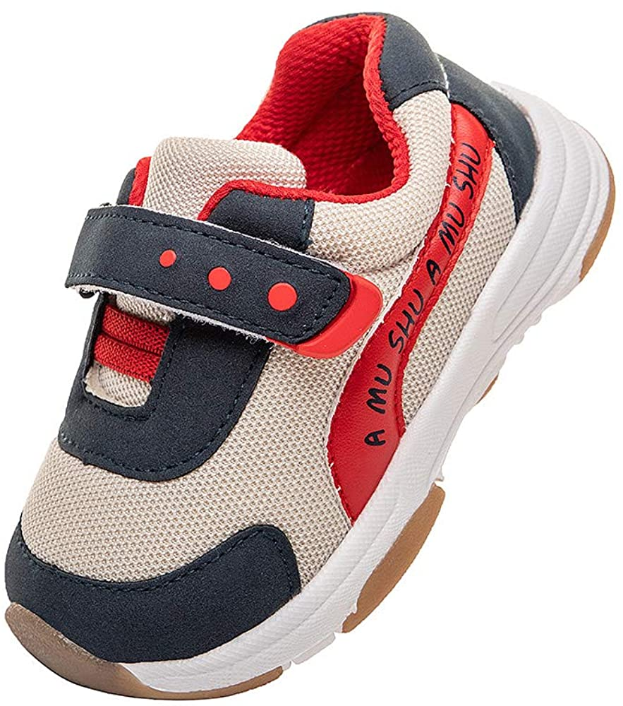 Baby Boys Girls Velcro Sneaker Toddler Outdoor Lightweight Breathable Running Shoes