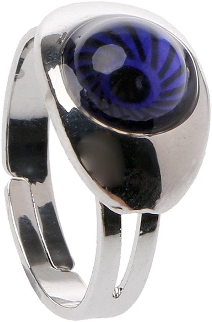 TeemorShop Magic Eye Shape Color Change Mood Ring Emotion Feeling Temperature Rings For Women Kids Entertainment Gifts