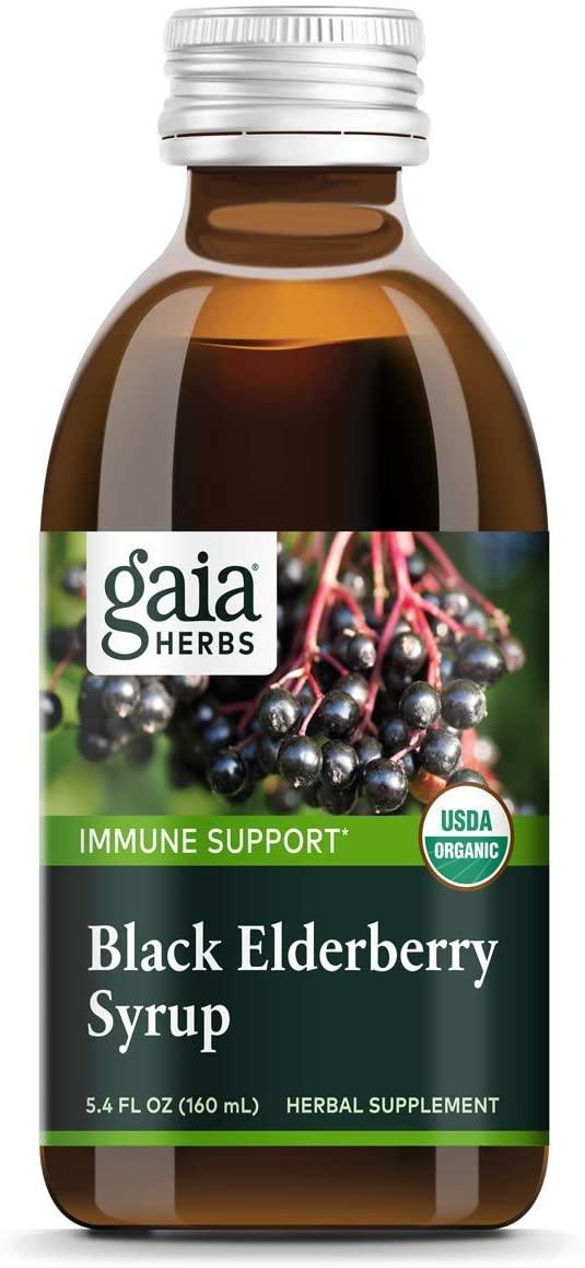 Gaia Herbs Black Elderberry Syrup - Daily Immune Support with Antioxidants, Organic Sambucus Elderberry Supplement, 5.4 Fl Oz (Pack of 1)