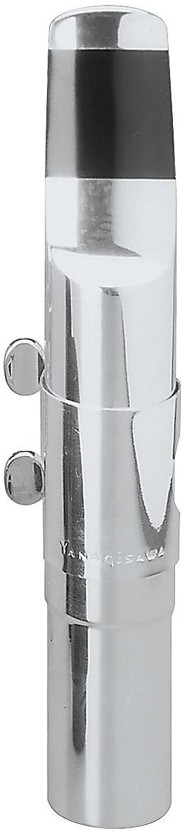 Yanagisawa Y27069 Y-2706 Baritone Saxophone Silver-Plated Metal Mouthpiece Kit with Ligature & Cap, 9