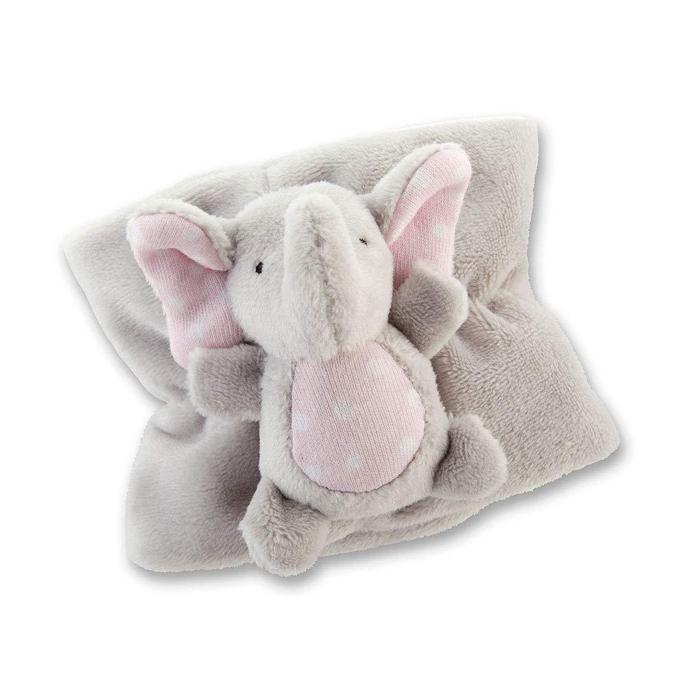 Baby Aspen Little Peanut Elephant Bottle Buddy - Plush Baby Bottle Cover - Pink/Grey/Pink