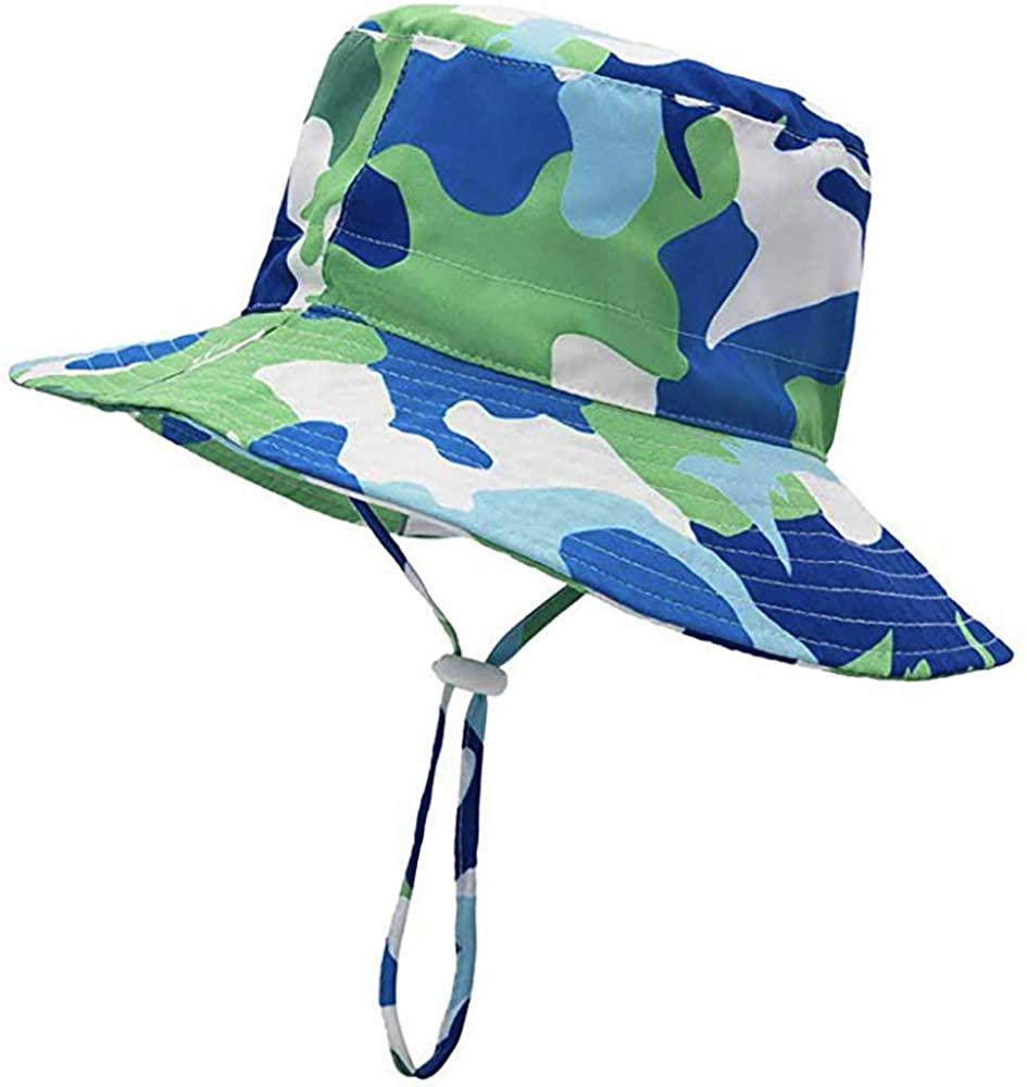Tbfun Baby Sun Hat with Adjustable Chin Straps - Unisex Toddler Summer Play Bucket Hat UPF 50+(6M-8Y)