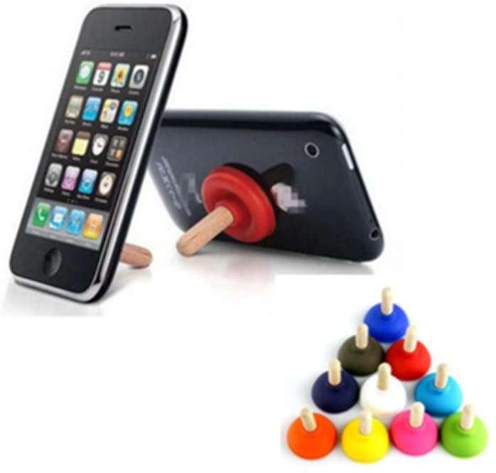 MAXGOODS Mini Plunger Holders Sucker Stand for Cell Phone iPhone iPod Touch All Cellphone Can Use,Random Color,50-Pack