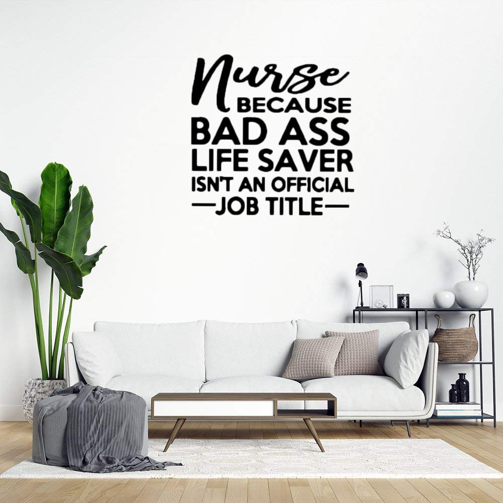 Farmhouse Gift for Nurse Wall Sticker,Inspiring Lettering,Quote Saying Words Wall Decal Saying Family Room,Wall Art Decor for Boys Room Kids Bedroom Living Room