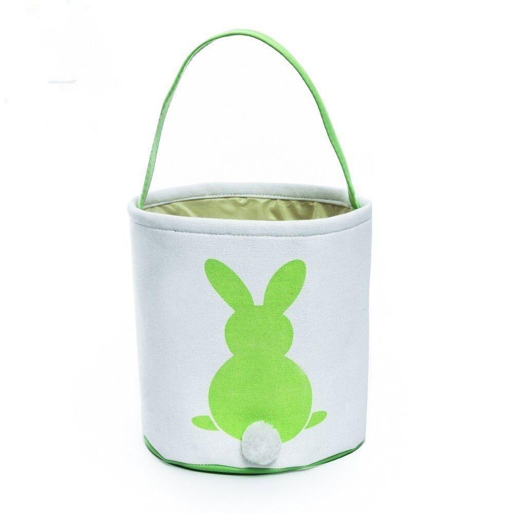 Easter Basket for Kids Easter Bunny Bag Easter Decorations (Green)