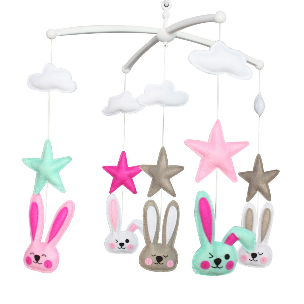 Newborn Musical Hanging Toy Nursery Baby Crib Mobile for 0-2 Years, MR46