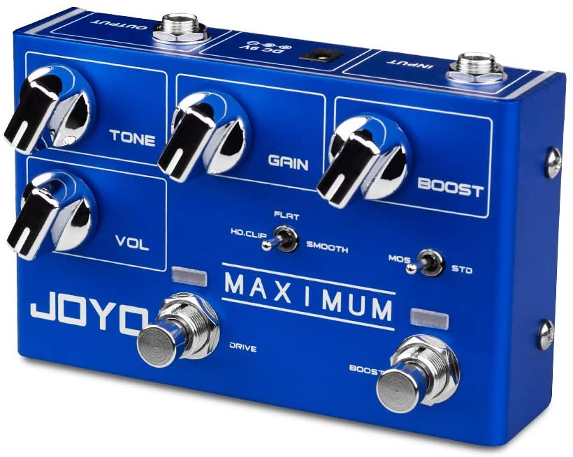 JOYO Maximum Overdrive Dual Channel Pedal Creates Clean Overdrive Tone and Wild Overdrive Effect for Electric Guitar (R-05)