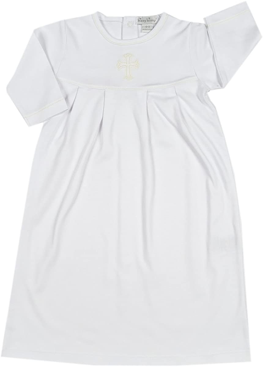 Kissy Kissy Baby Boys Baby Blessings Day Gown - White / Ecru