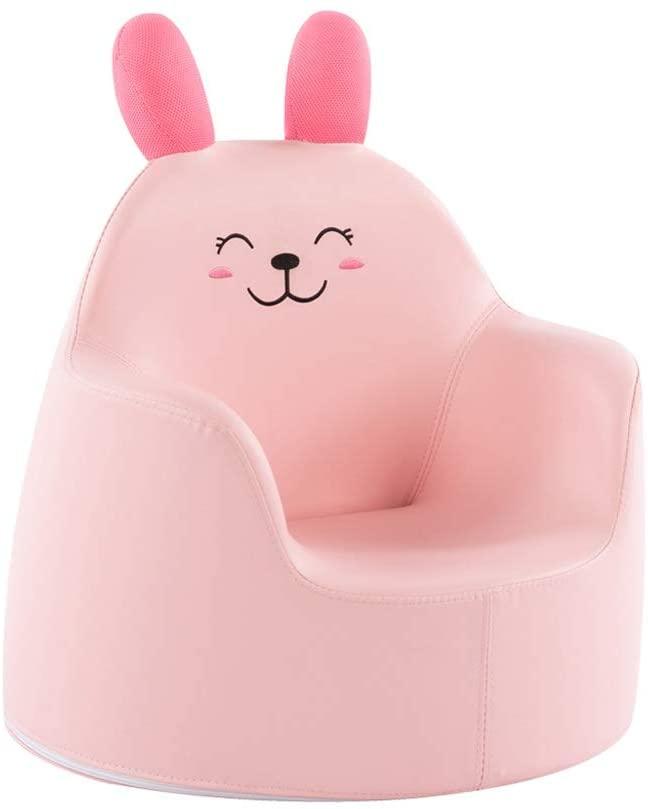MWY Lazy Sofa Children's Chair Toddler Furniture Cortex Cartoon Children's Sofa Armchair Mini Sofa Wooden Frame 50X50x45cm (Color : Pink)