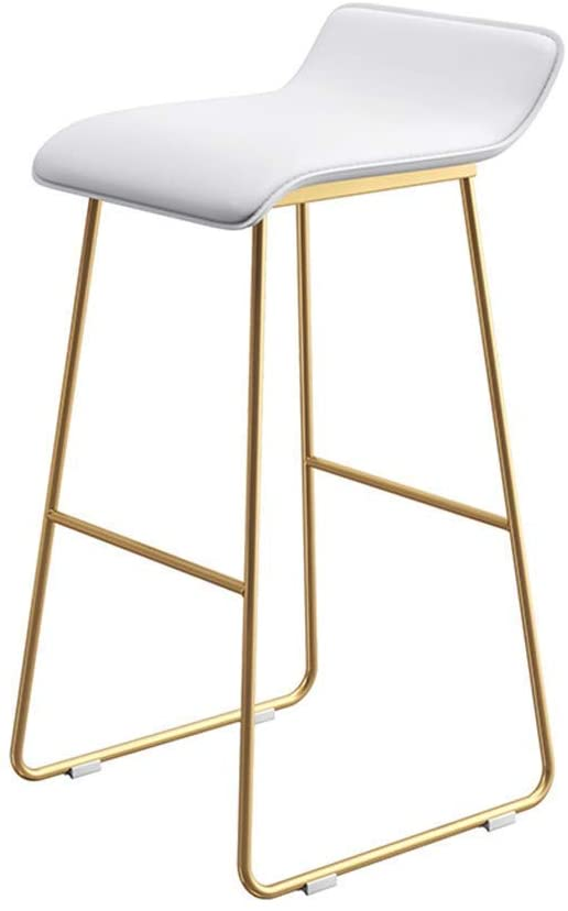 CAIS Chair Stool Simple Atmosphere Restaurant Breakfast Chair, with Footrest Artificial Leather High Stool Home Bookstore Beverage Shop Dessert Shop Lounge Chair Non-Slip Seat,65CM