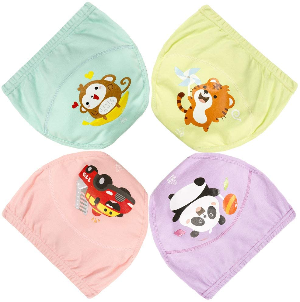 Baby Boys and Girls 5 Layer Training Pants Toilet Potty for Toddler Underwear 4 Pack(120-110-GIRLS)