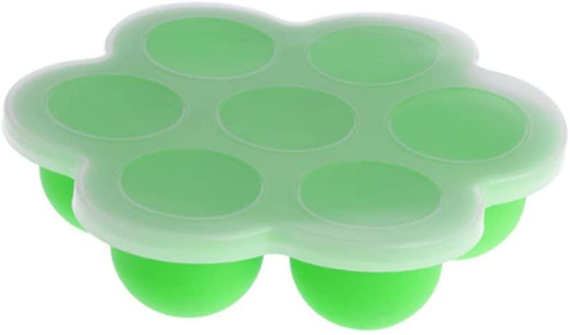 DDHJHFHF Baby Food Container Infant Fruit Breast Milk Storage Box Freezer Tray Crisper,Green