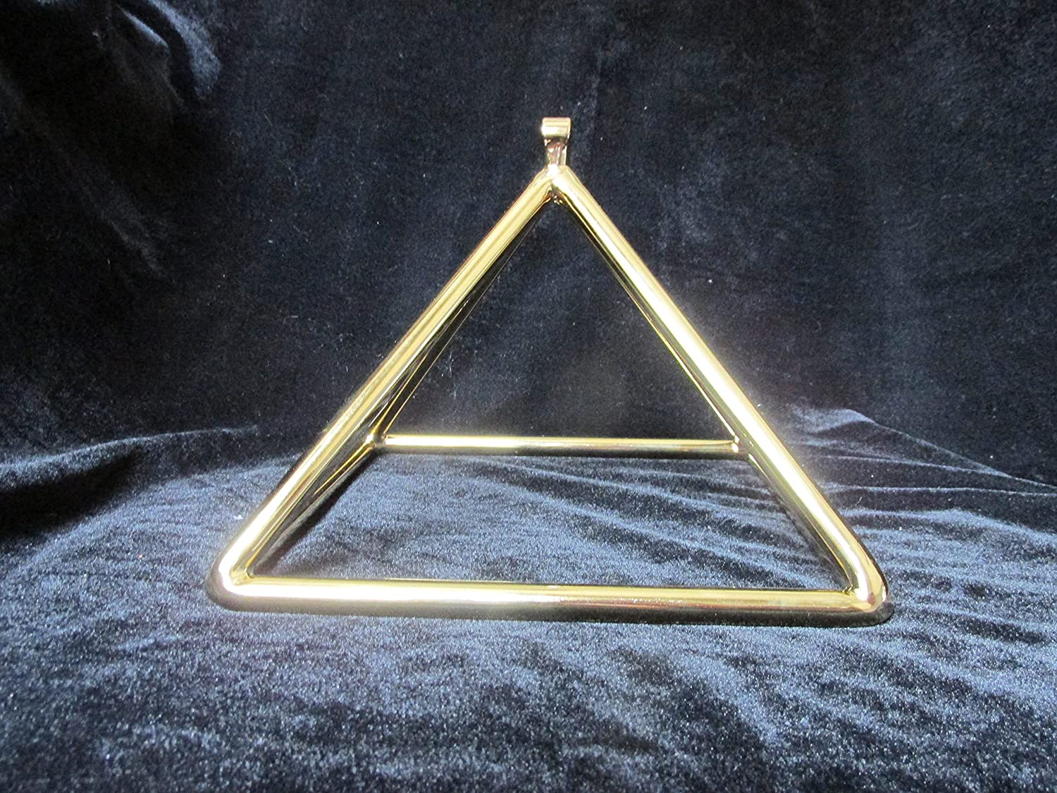 8 inch Gold Plated Crystal Quartz Pyramid – Perfect Healing Instrument