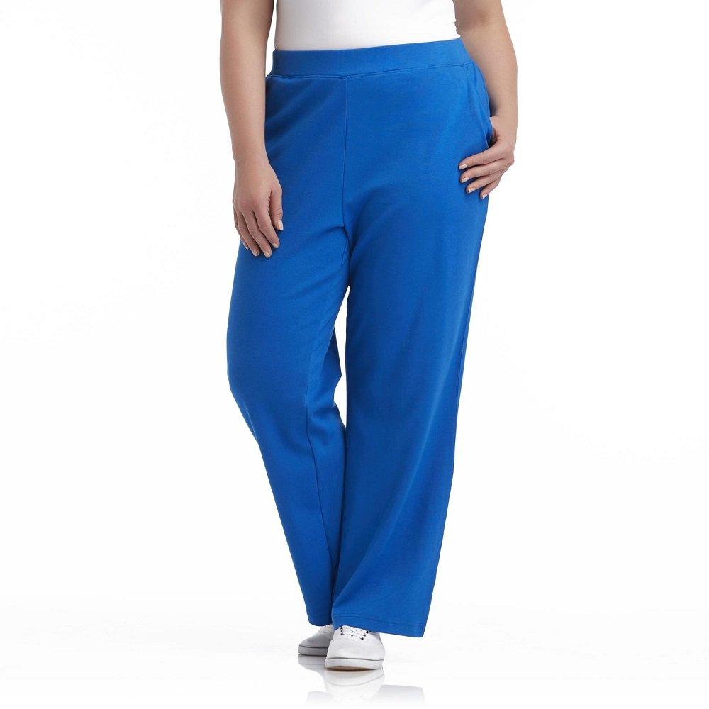 Basic Editions Women's Plus Gray Sweatpants 2X