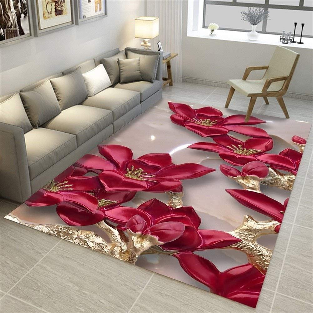 SADDPA Modern 3D Printing Rectangle Carpet Hallway Doormat Anti-Slip Bathroom Carpets Kids Room Absorb Water Kitchen Mat Rug (Color : 09, Size : 60x90cm 23.6x35.4in)