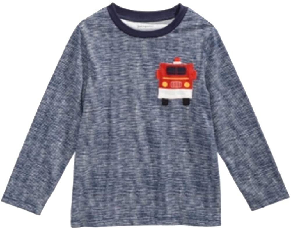 First Impressions Baby Boys Firetruck-Print Cotton T-Shirt