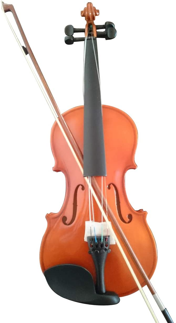 Student Acoustic Violin Full 1/8 Maple Spruce with Case Bow Rosin Wood Color (3/4)