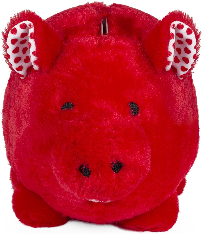 FAB Starpoint Jumbo Red Plush Piggy Bank
