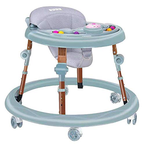 Space-Saving Collapsible Comfortable 6 Wheels Baby Walker First Steps Learning to Walk