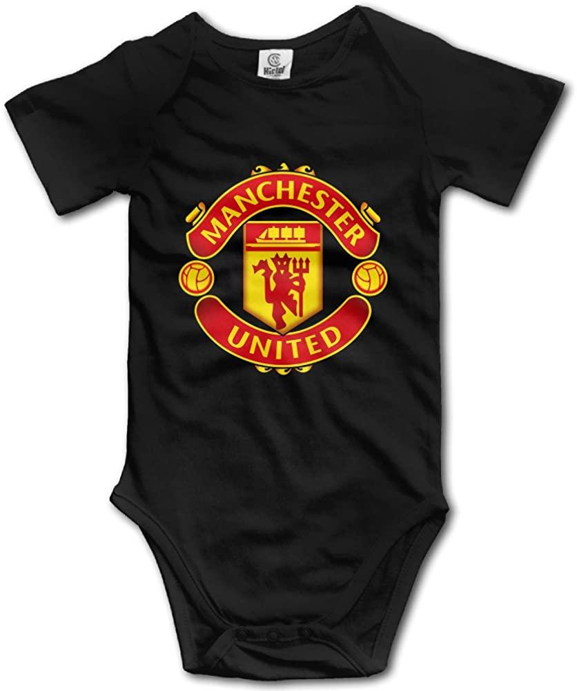 Manchester United F.C. Logo Football Club Cute Baby Onesies Bodysuits