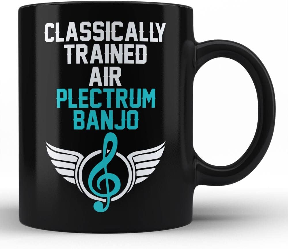 Classically Trained Plectrum banjo Player Best Birthday Anniversary Graduation Gift for Honoring Plectrum banjo Instrument Player White Coffee Mug By HOM