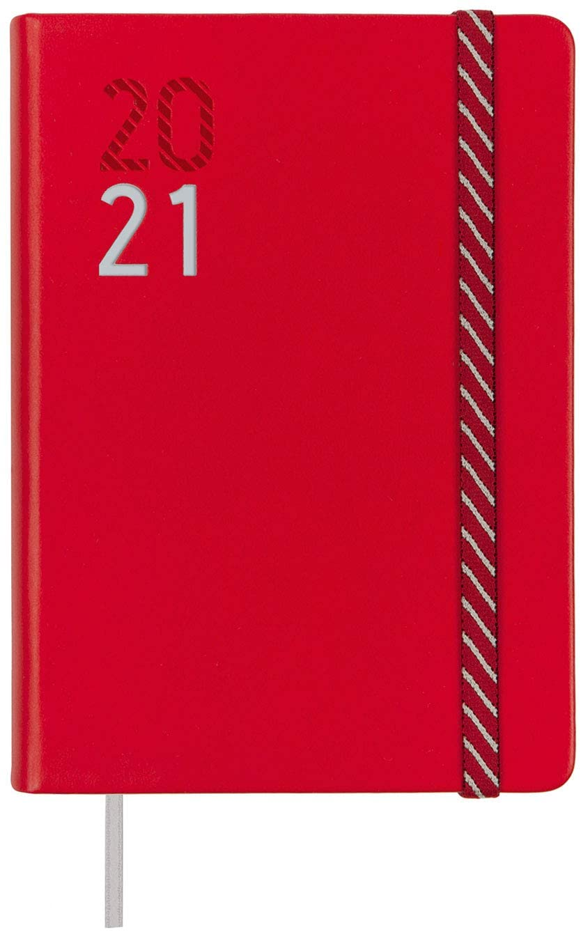 Finocam - Agenda Course 2020-2021 M4-118 x 168 1 Day Page Natural Croma Red Spanish