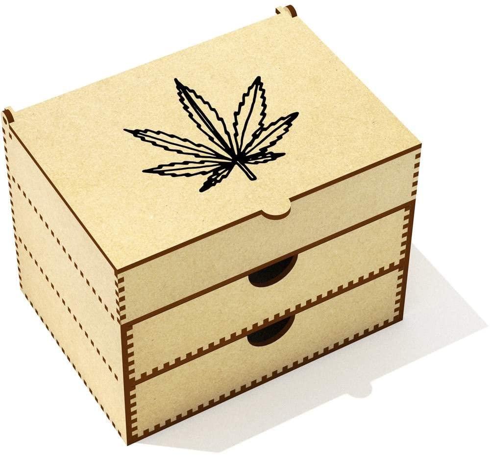 Azeeda 'Weed Leaf' Vanity Case / Makeup Box (VC00014416)