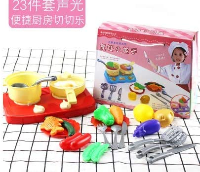 awd Play House Children Fruit Vegetables Chelsea Toy Toy Baby Cake Kitchen Cooking Cooking Pizza Set Combination