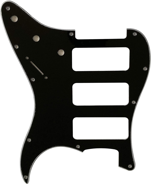 Guitar Parts For Fender Stratocaster Strat P90 3 Pickup Guitar Pickguard (3 Ply Black)