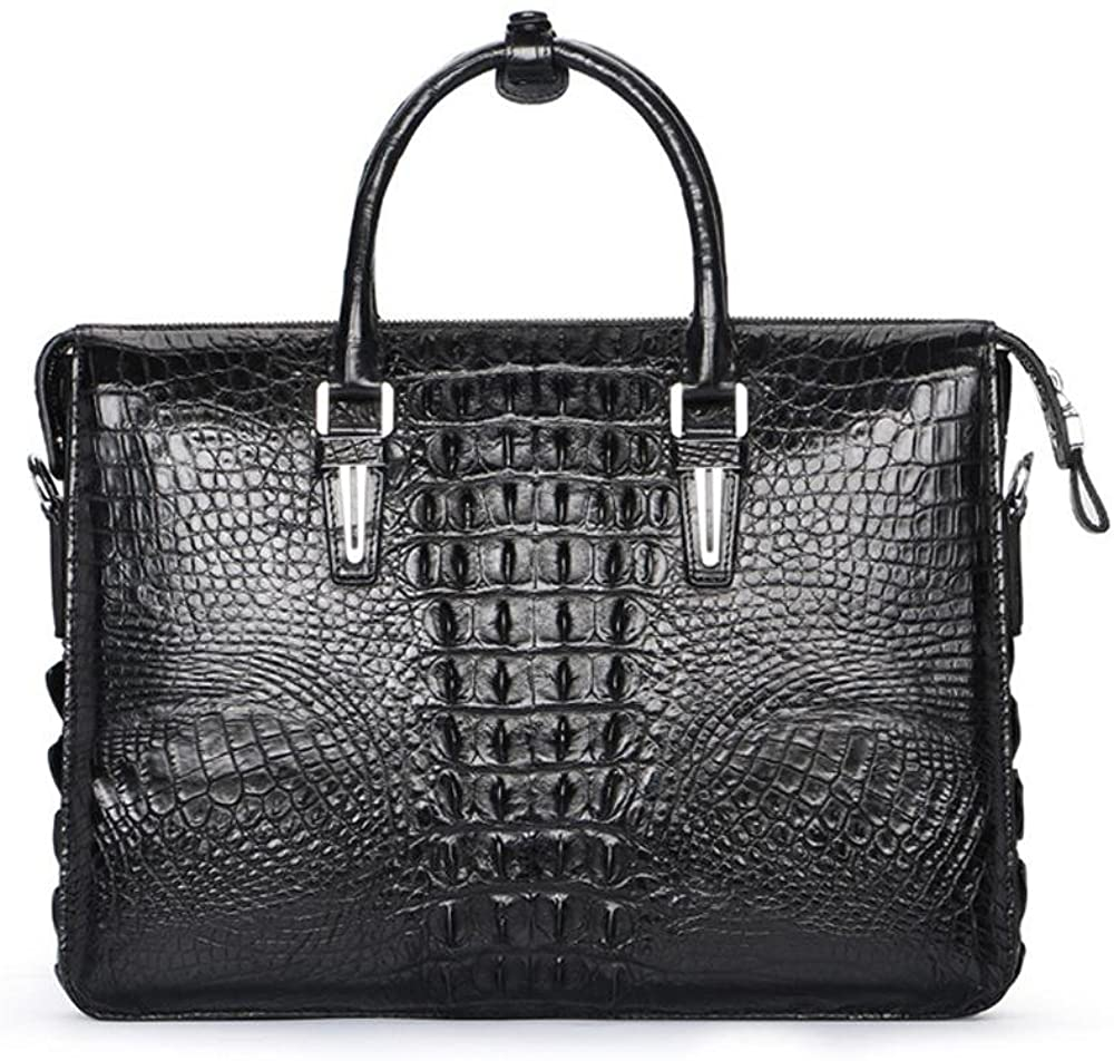 Genuine Crocodile Leather Briefcase For Men