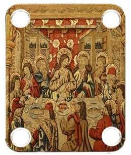 Custom Graphical Guitar Neck Plate Neckplate Painting Last Supper