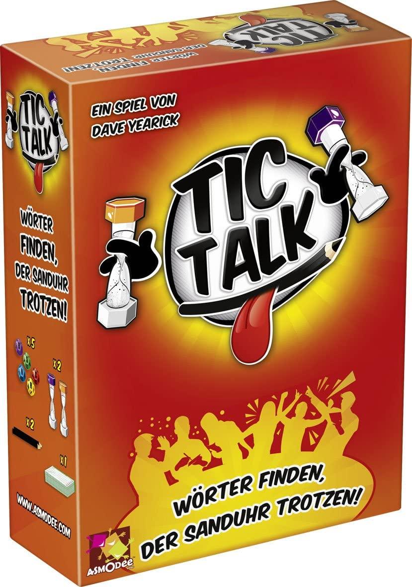 Asmodee 002265Tic Talk, Compact Game