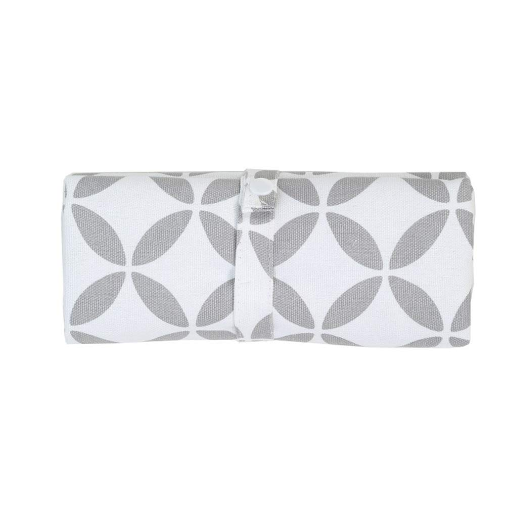 Baby Diaper Changing Pad | Waterproof | Portable Foldable | Changing Organizer Bag for Toddlers Infants & Newborns | Perfect Baby Shower Gift (Hollow Circle)