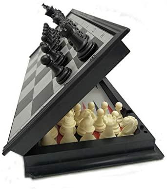 3 in 1 Chess Checkers Backgammon Set Magnetic Chess for Kids Adults Travel Magnet Chess with Folding Case 13