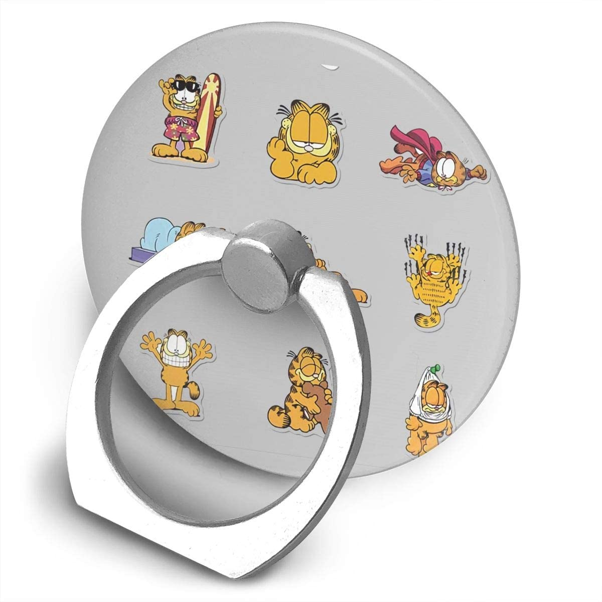Garfield Alloy Mobile Phone Ring Bracket,360 Degree Rotating Ring Stand Grip Mounts