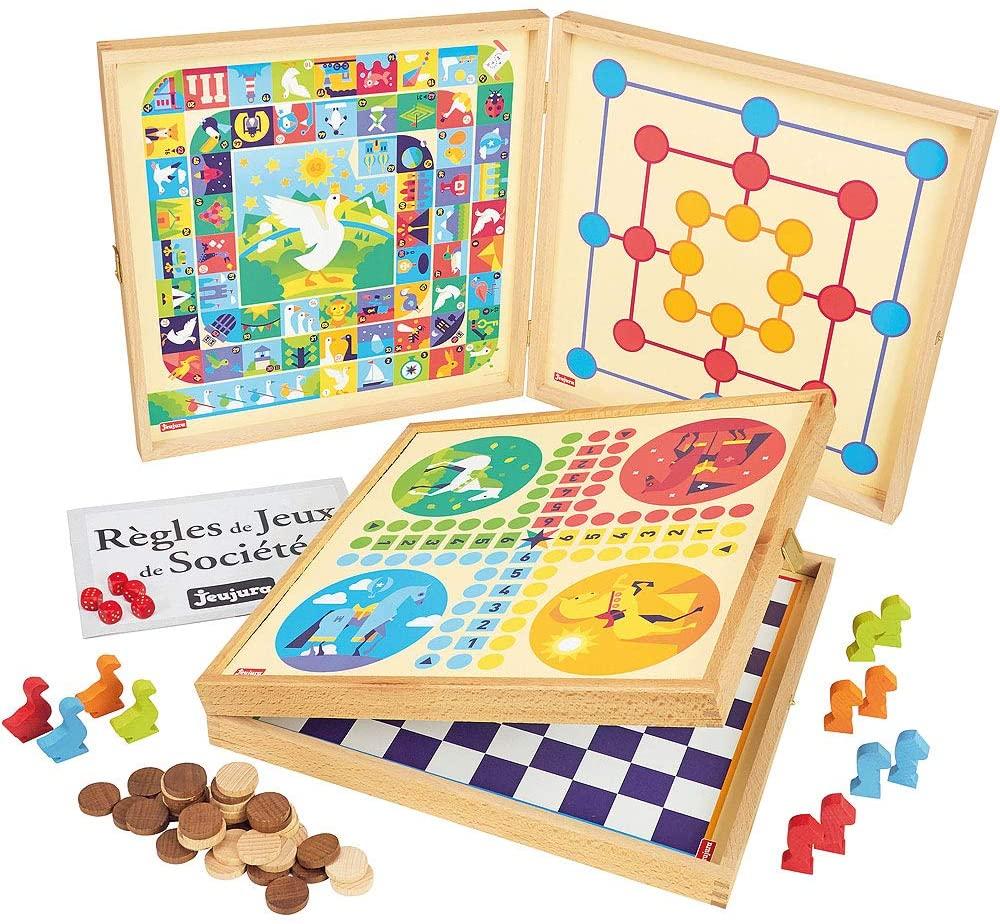 Jeujura–8119–Classic Game Box 50Rules–Wood pawns