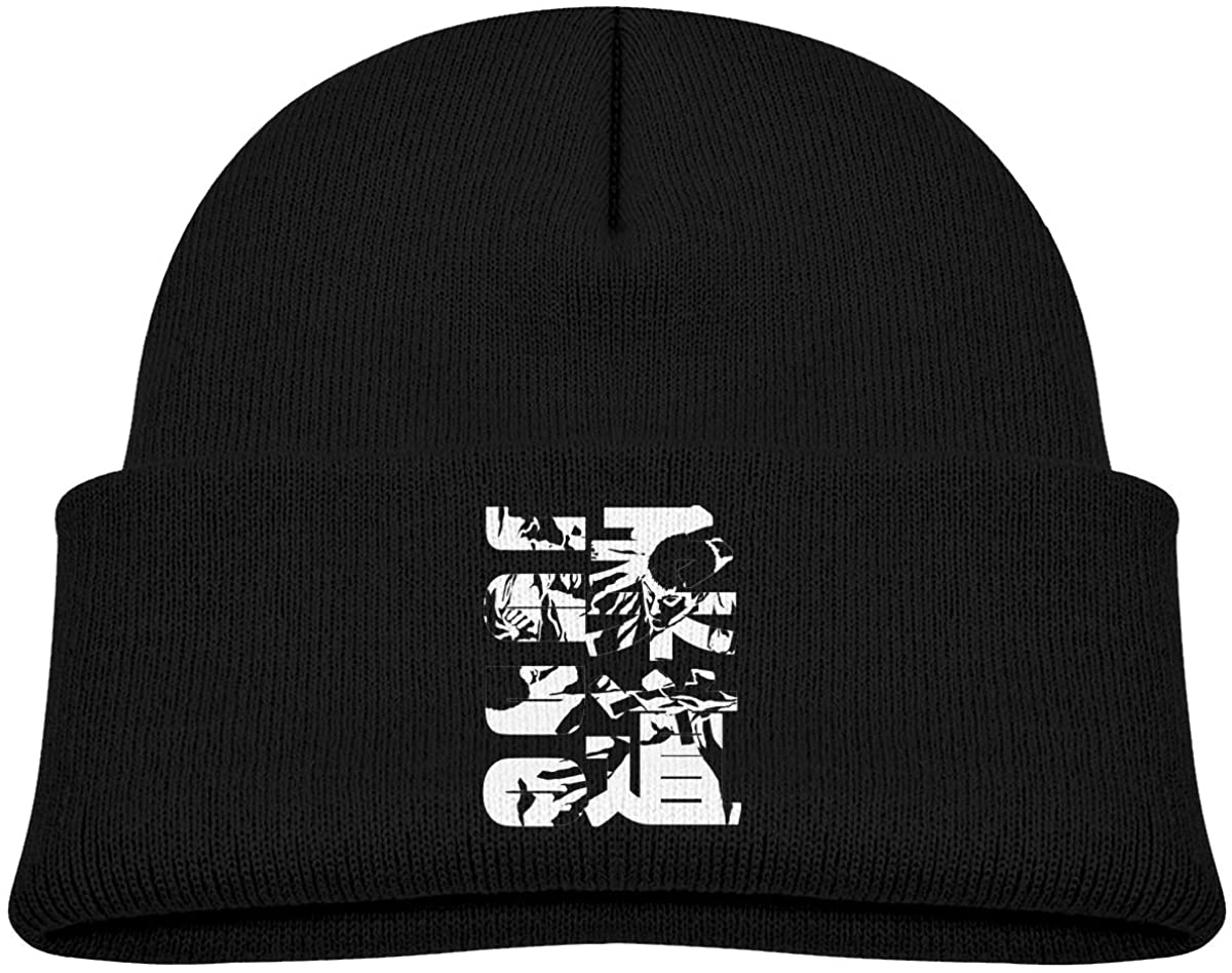 EASON-G Toddler's Beanie Jujitsu Cuffed Knit Hat Skull Cap