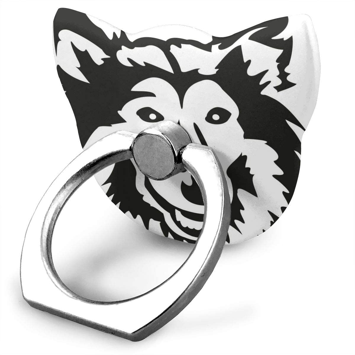 Universal Phone Ring Holder Rough Collie Head Dog Adjustable 360°Rotation Cat Shape Finger Grip Loop Cell Phone Stand for Phone X/6/6s/7/8/8/10/11 Plus Android Smartphone