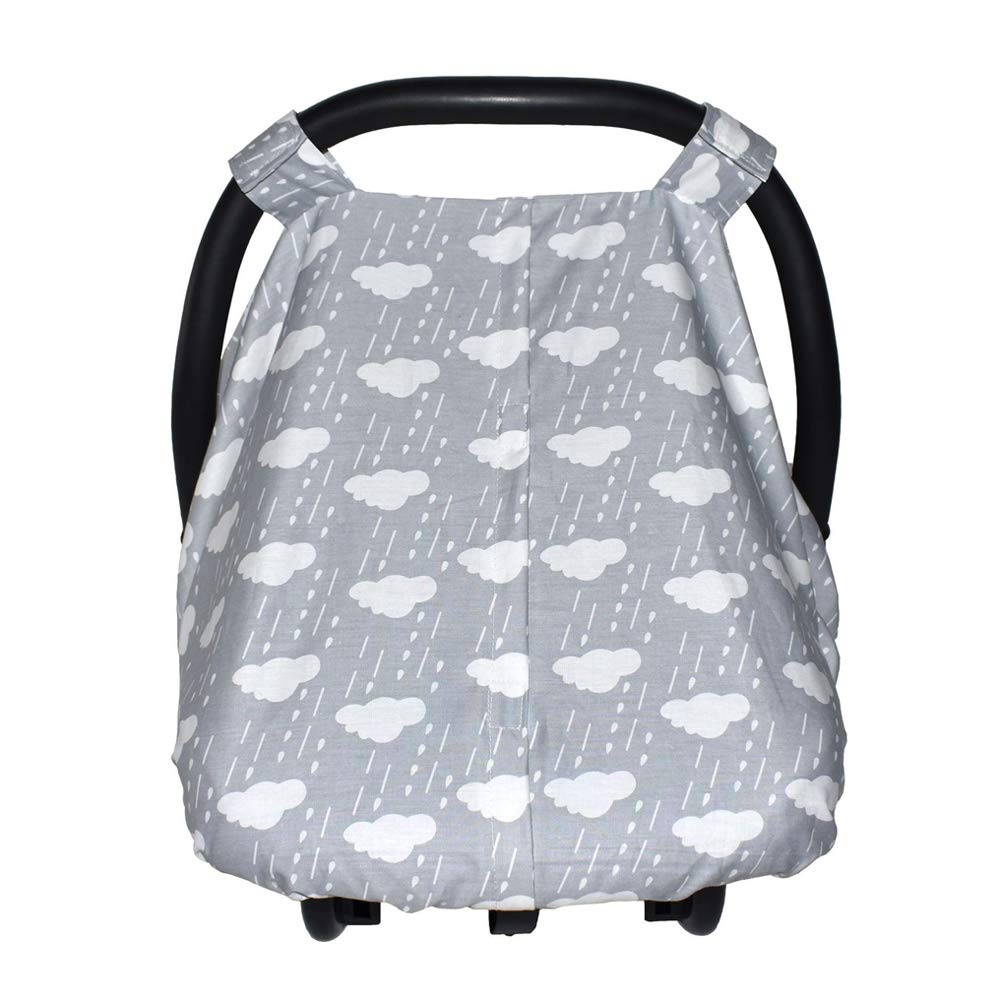 Baby Carseat Canopy Infants Carrier Covers Safety Basket Case with Peekaboo (Cloud)