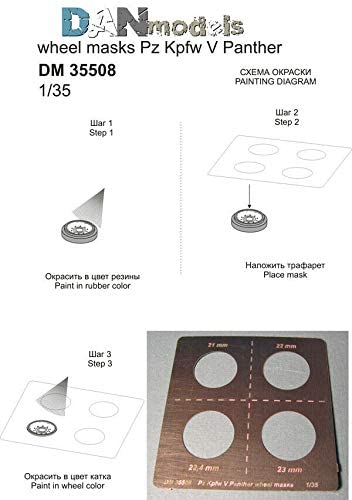 Dan Models 35508-1/35 Photo Etched Painting The Wheels Pz Kpfw V Panther WW II
