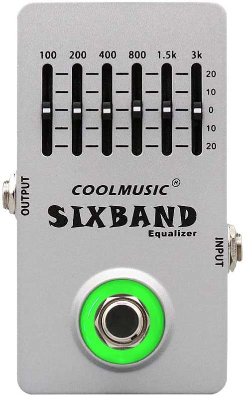 Coolmusic C-EQ01 Equalizer Pedal Guitar Pedal Effects Bass Pedal Acostic Guitar Pedal