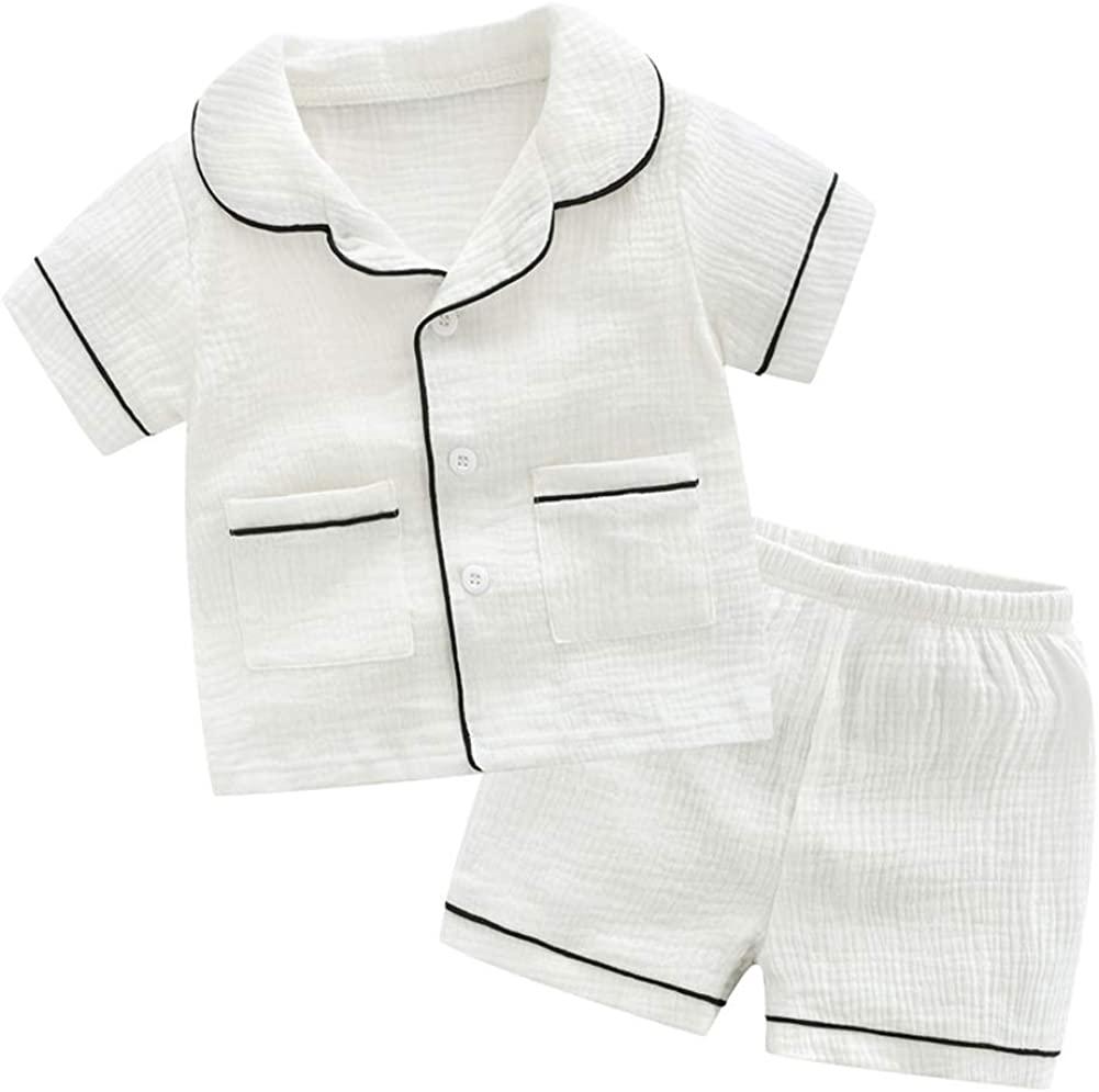 CHAOSHUO Toddler Girls Boys Pajamas Set 2Pcs Unisex Sleepwear 2T-7T